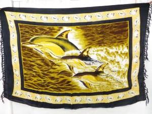 dolphin jumping sarong wall hanging art bedspread