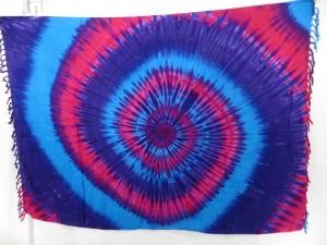 tie dye swirl sarong