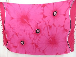 pink giant hibiscus flower sarong