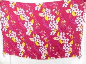 pink hula sexy wrap skirt with Hawai flowers