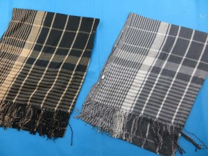Unisex Plaid Checkered Keffiyeh Arab Shemagh Scarf Shawl 70 inches long (include tassels), 18 to 20 inches wide