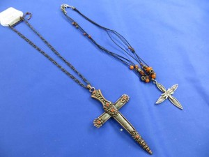 vintage style cross necklaces mixed designs
