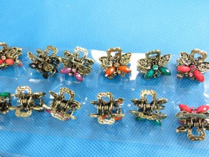 retro vintage hairclip hair claw mini size size: 1.25 inches by 1.25 inches