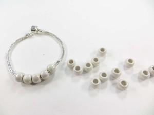 White color acrylic bead