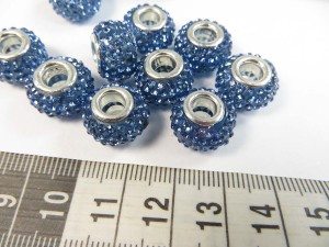 Blue color acrylic rhinestone bead