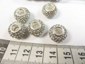 Clear color acrylic rhinestone bead