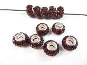 Black color acrylic rhinestone bead