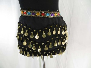 belly-dance-hip-scarf-skirt-wrap-black-2b