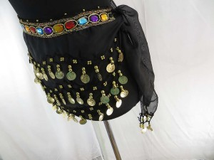 Belly dance hip scarf wrapping mini skirt