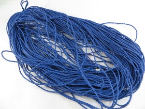 Blue color braided faux leather cord
