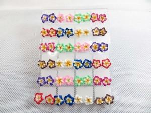 fimo-flower-studs-earring-1a
