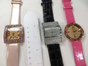 lady's watches with cz crystal or acrylic rhinestones