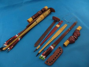 Hand made Bow and arrows set in Bali Indonesia