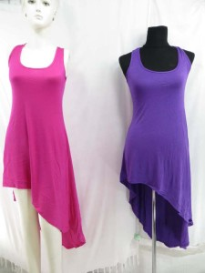 Lady's jersy dresses and asymmetrical dresses mixed