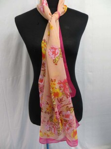 Abstract flower painting chiffon scarves