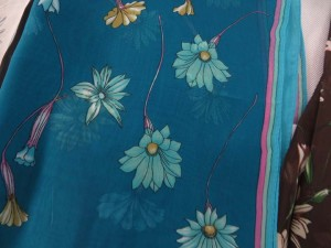 Flying flowers chiffon scarves