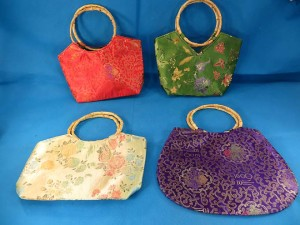 chinese purse with bamboo handle