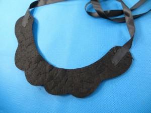collar necklaces in black color with ribbon tie