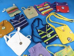 Cotton crochet passport bag