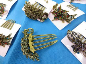 vintage antique style decorative french twist hair comb