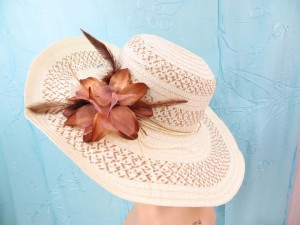 Summer hats with floral decoration