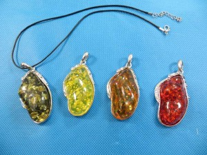 imitation amber pendants, include free black or brown cord necklace