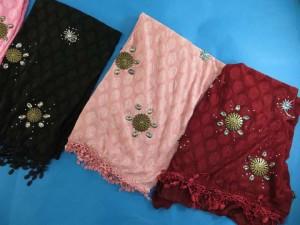 Women's trendy scarf shawl wrap with jewelry