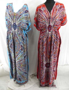 Kimnon style kaftan dress robe in ethnic design prints