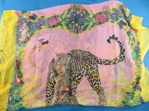Flower, Birds And Leopard Shawls