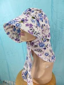 floral design cotton large flap caps