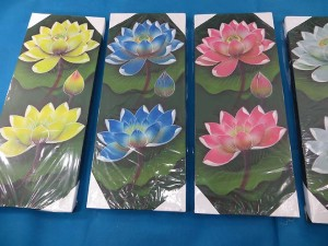 Lotus Flower Bali Painting