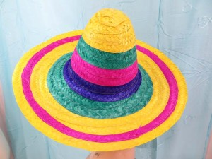 Multicolored Straw Mexican Sombreo Hats