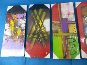 Colors and geometrics Balinese paintings modern art