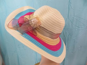 Floppy beach sun hats
