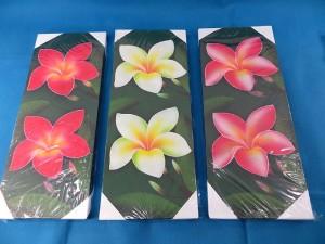Plumeria flower Bali painting