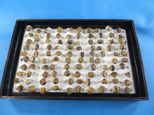 natural gemstone tiger eye rings