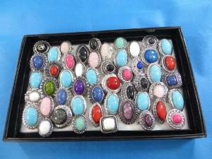 rings-522aassorted gemstone retro vintage style rings