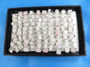 light pink rose quartz gemstone rings