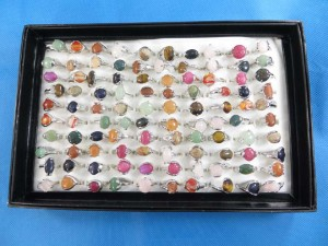 assorted gemstone fashion rings
