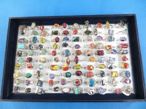 mixed color gemstone fashion rings