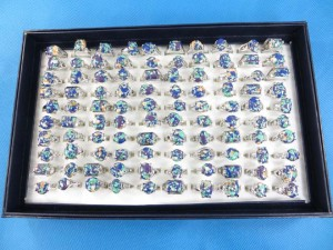 blue gemstone fashion rings