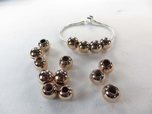 Rose gold color round bead