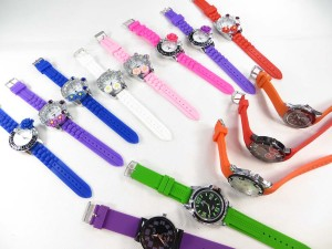 Silicone jelly rubber fashion trendy band watch