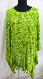 Fashion top caftan in loral designs