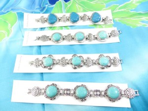 genuine turquoise bracelets in mixed designs