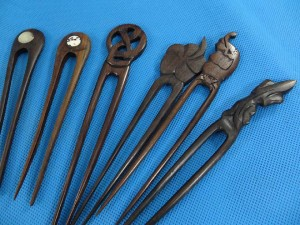 wooden hair pin mix designs