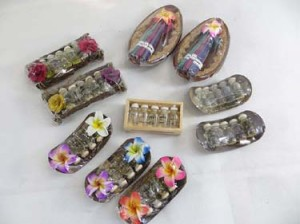 Bali handmade tranditional essential oil, incense and incense holder gift sets mix combo