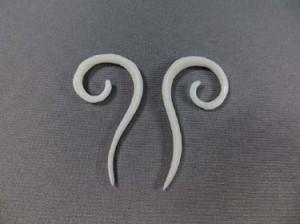 natual bone jewelry earring short hook