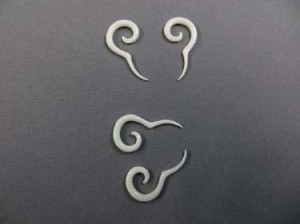 long tail bone spiral ear stretchers
