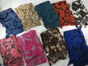 Fashion women winter muffler knitted scarves, ruffle bumpy bubble shawls. Double layers, 3D, textured, reversible, chunky, soft, thick, warm and cozy fringed scarves and wraps